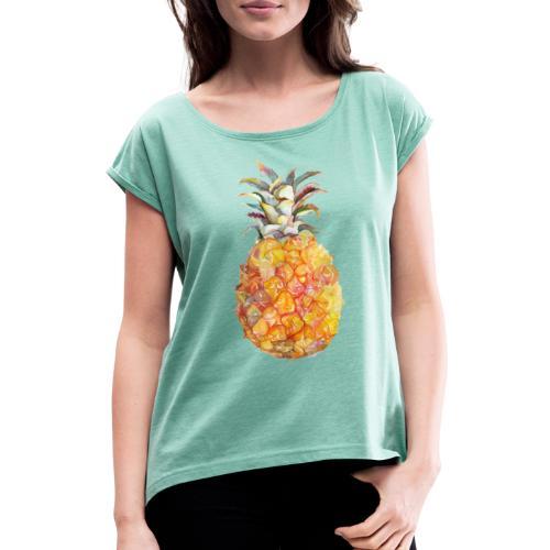 Piña tropical - Camiseta con manga enrollada mujer