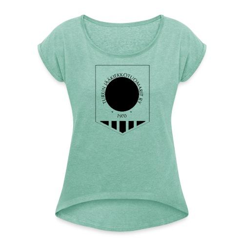 Tujen vaakunalogo - Naisten T-paita, jossa rullatut hihat