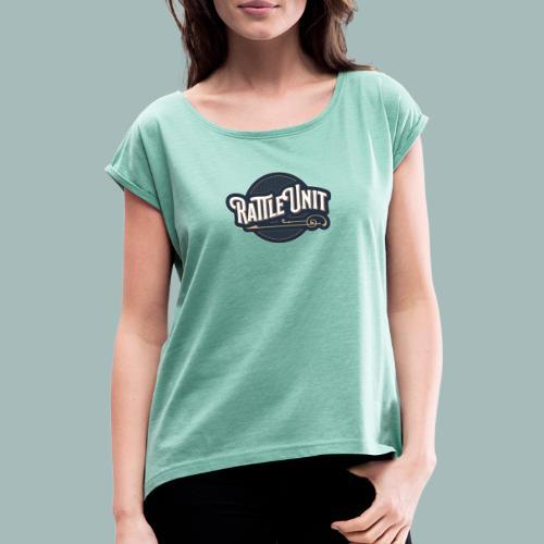 Rattle Unit - Vrouwen T-shirt met opgerolde mouwen
