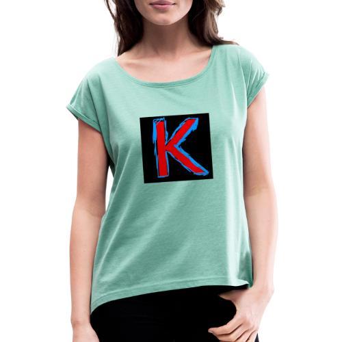 Klackpfantbam shirts - Frauen T-Shirt mit gerollten Ärmeln
