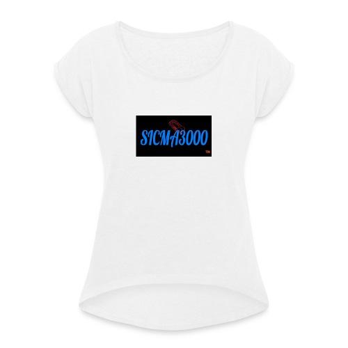 sicma1 - Camiseta con manga enrollada mujer