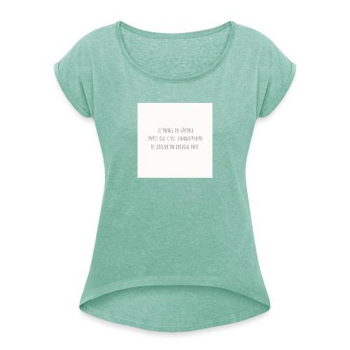 Gateaux - T-shirt à manches retroussées Femme