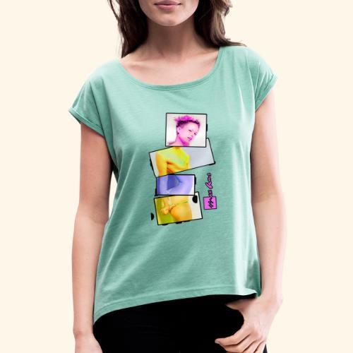 Untitled 3 explose - T-shirt à manches retroussées Femme