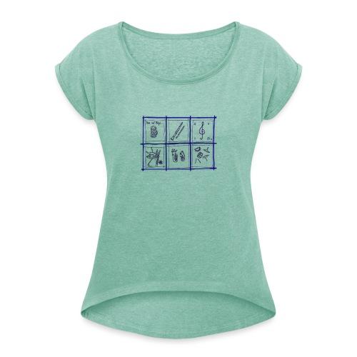 PM - Frauen T-Shirt mit gerollten Ärmeln