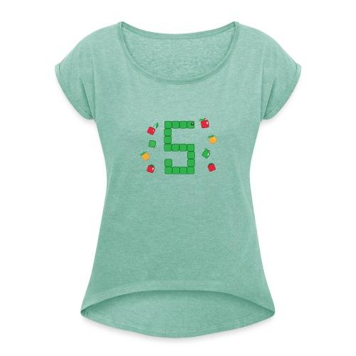 Serpent Tetris - T-shirt à manches retroussées Femme