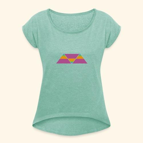 triangulos - Camiseta con manga enrollada mujer