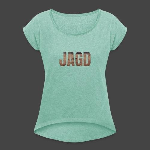 JAGD-Shirt für Jäger/innen, Motiv Moorjagd - Frauen T-Shirt mit gerollten Ärmeln