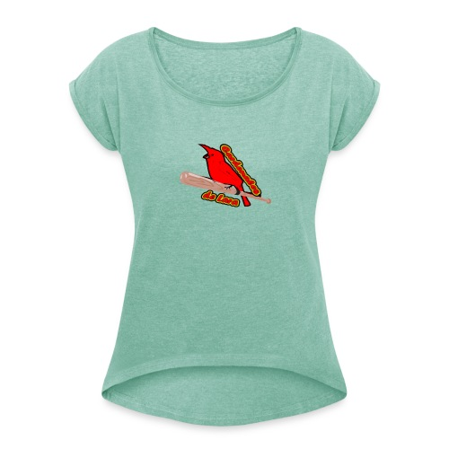 Cardenales en Lara - Camiseta con manga enrollada mujer