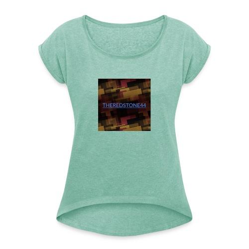Logopit 1557949222672 - Frauen T-Shirt mit gerollten Ärmeln