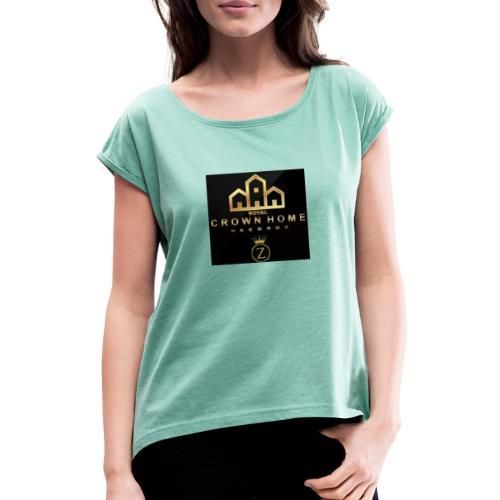 IMG 20191030 195701 - Frauen T-Shirt mit gerollten Ärmeln
