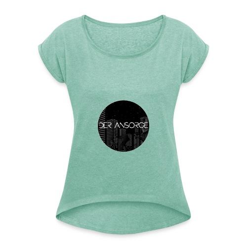 Der Ansorge - Logo - Frauen T-Shirt mit gerollten Ärmeln