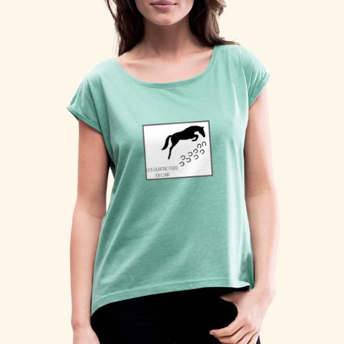 0C1828ED DD83 40BF A7CC AD47FE636465 - T-shirt à manches retroussées Femme