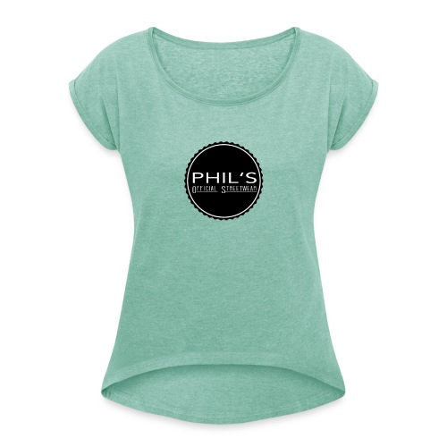 Logo Bench - Frauen T-Shirt mit gerollten Ärmeln