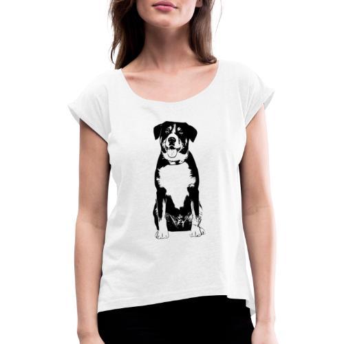 Entlebucher Sennenhund Hunde Design Geschenkidee - Frauen T-Shirt mit gerollten Ärmeln