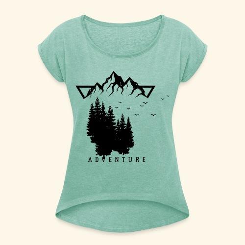 Geometrische Natur 12 - Frauen T-Shirt mit gerollten Ärmeln