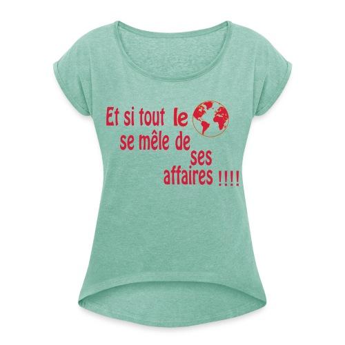 BNT création - T-shirt à manches retroussées Femme
