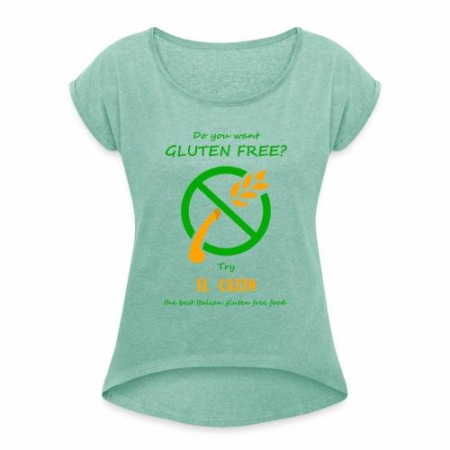 il Cazzo Gluten Free - Maglietta da donna con risvolti