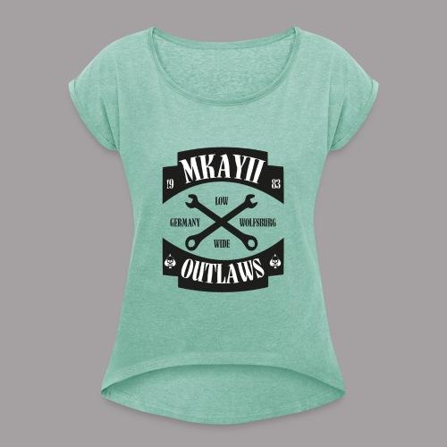 2eoutlaws - Frauen T-Shirt mit gerollten Ärmeln