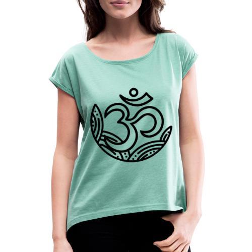 Om collection - Maglietta da donna con risvolti