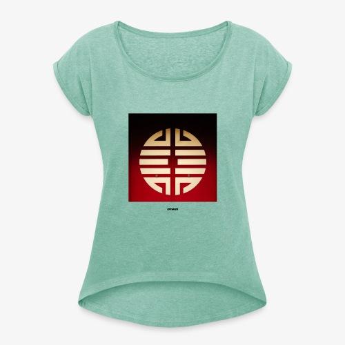 SIGN #01 - Frauen T-Shirt mit gerollten Ärmeln