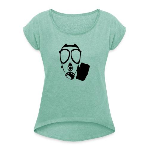 Suojelumies - Naisten T-paita, jossa rullatut hihat