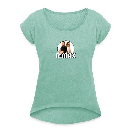 R-MAX - Koszulka damska z lekko podwiniętymi rękawami