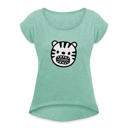 Tier - Frauen T-Shirt mit gerollten Ärmeln