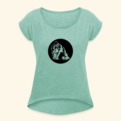 Gorila del parque - Camiseta con manga enrollada mujer