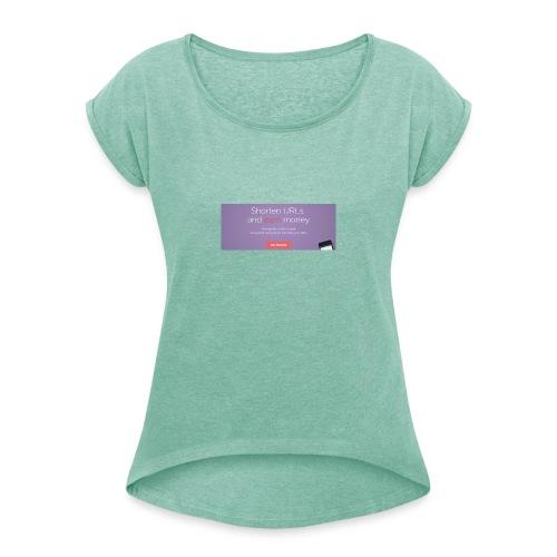 Captura - Camiseta con manga enrollada mujer