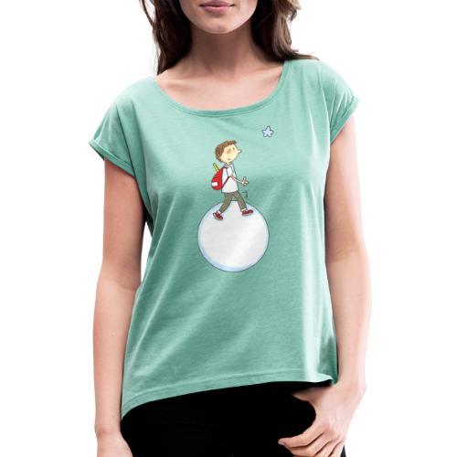 2021 08 Planète - T-shirt à manches retroussées Femme