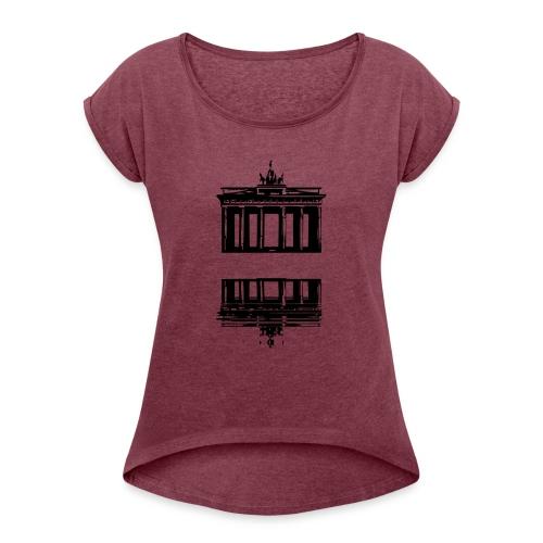 Berlin + freier Platz -> zum einschreiben - Slogan - Frauen T-Shirt mit gerollten Ärmeln