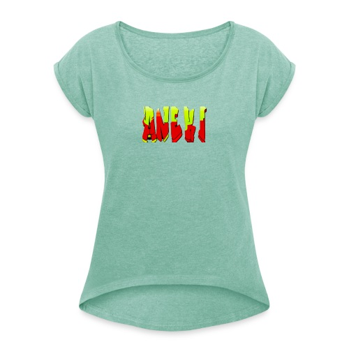 Aneki - Women's T-Shirt with rolled up sleeves