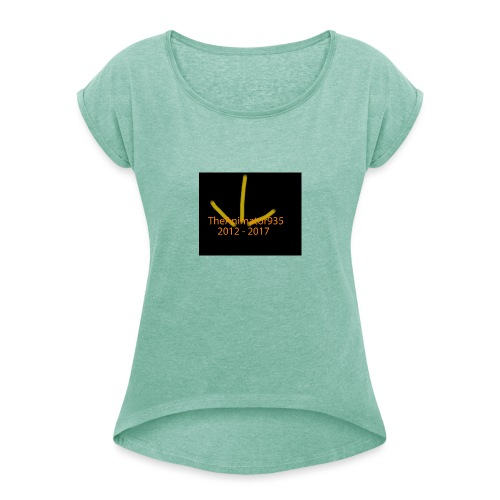TheAnimator935 Logo - Women's T-Shirt with rolled up sleeves