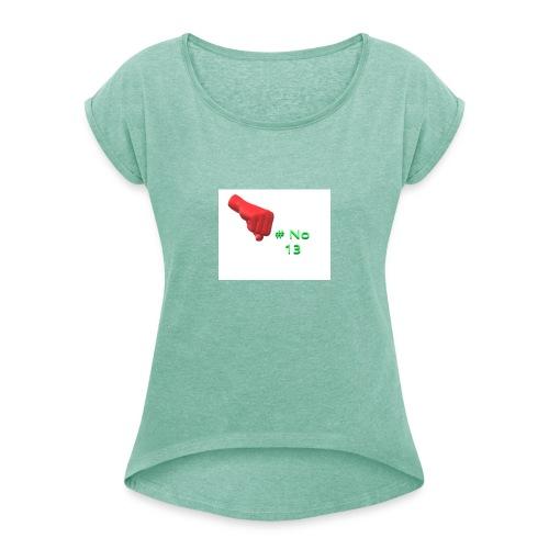 # NO 13 - Frauen T-Shirt mit gerollten Ärmeln