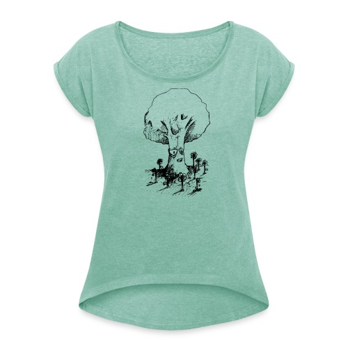 Sage Tree - Women's T-Shirt with rolled up sleeves