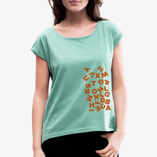 Alphabet Soup - Camiseta con manga enrollada mujer
