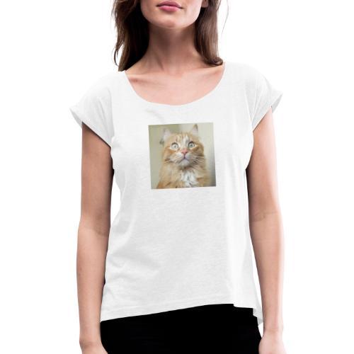 Gatto Ninni - Maglietta da donna con risvolti