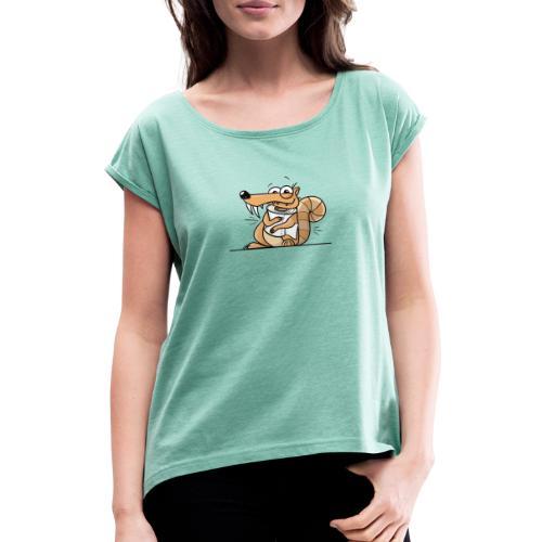 Scrat Toiletpaper Ice Age Corona Age Corona Virus - Frauen T-Shirt mit gerollten Ärmeln