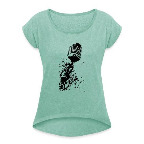 dirtymic - Vrouwen T-shirt met opgerolde mouwen