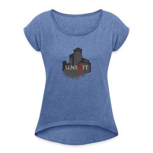 slnsoft - Naisten T-paita, jossa rullatut hihat