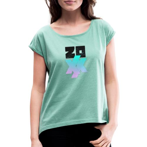 2020 - Women's T-Shirt with rolled up sleeves