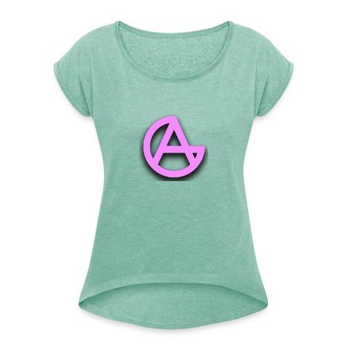 Gwonarchiste - T-shirt à manches retroussées Femme