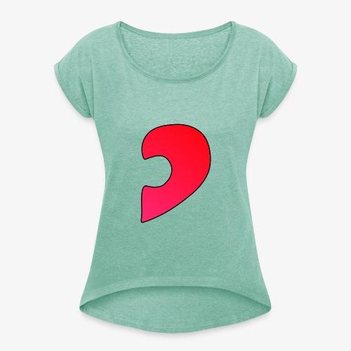 Herz Puzzle Partnerlook B - Frauen T-Shirt mit gerollten Ärmeln