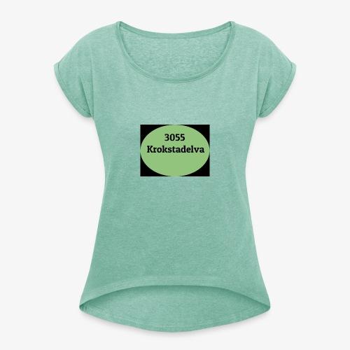 Krokstadelva - T-skjorte med rulleermer for kvinner