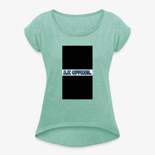 logo JLK OFFICIEL - T-shirt à manches retroussées Femme