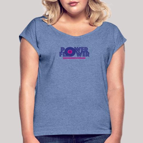 Logo PowerFlower colori - Maglietta da donna con risvolti