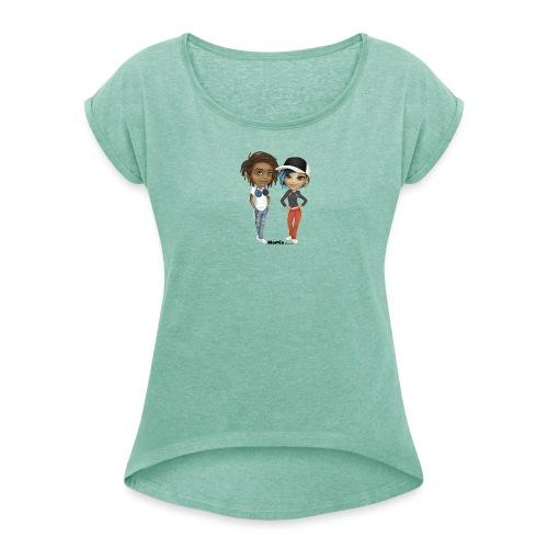 Maya & Noa - Vrouwen T-shirt met opgerolde mouwen