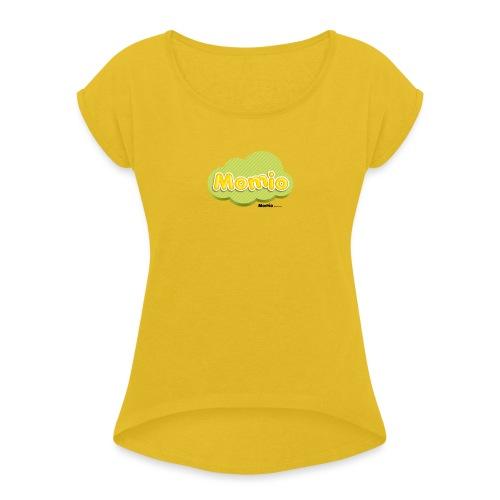 Logo van Momio - Vrouwen T-shirt met opgerolde mouwen