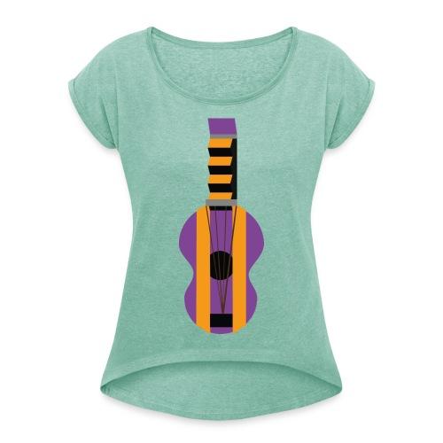 La Gitarre - T-skjorte med rulleermer for kvinner