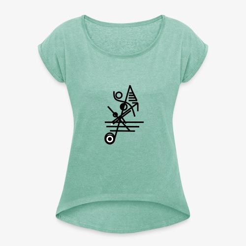 graph18 - T-shirt à manches retroussées Femme